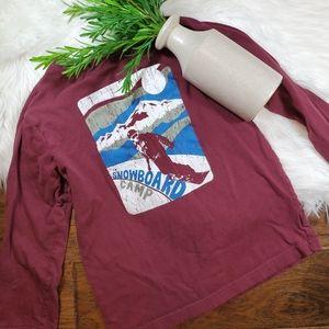 🌿5/$25 Children's Place Burgundy Ski Shirt | 5/6